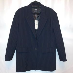 Zara Men's Pinstripe Suit Jacket Size Large